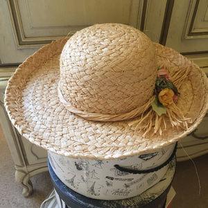 Summer Raffia Hat with Floral Embellishments